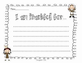 I Am Thankful for Worksheet Lovely I Am Thankful for Writing Activity Freebie by Stacygooch