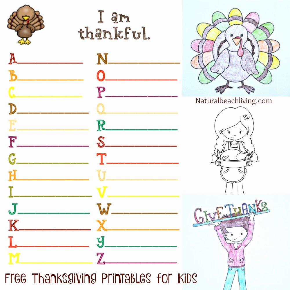 I Am Thankful for Worksheet Lovely Printable I Am Thankful for Thanksgiving – Happy Easter