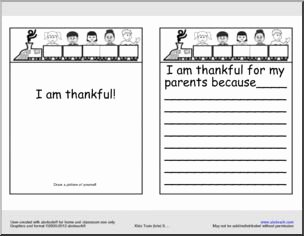 I Am Thankful for Worksheet Luxury Booklet I Am Thankful Thanksgiving Printable