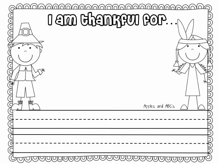 I Am Thankful for Worksheet Luxury Turkey Time Craftivity Apples and Abc S