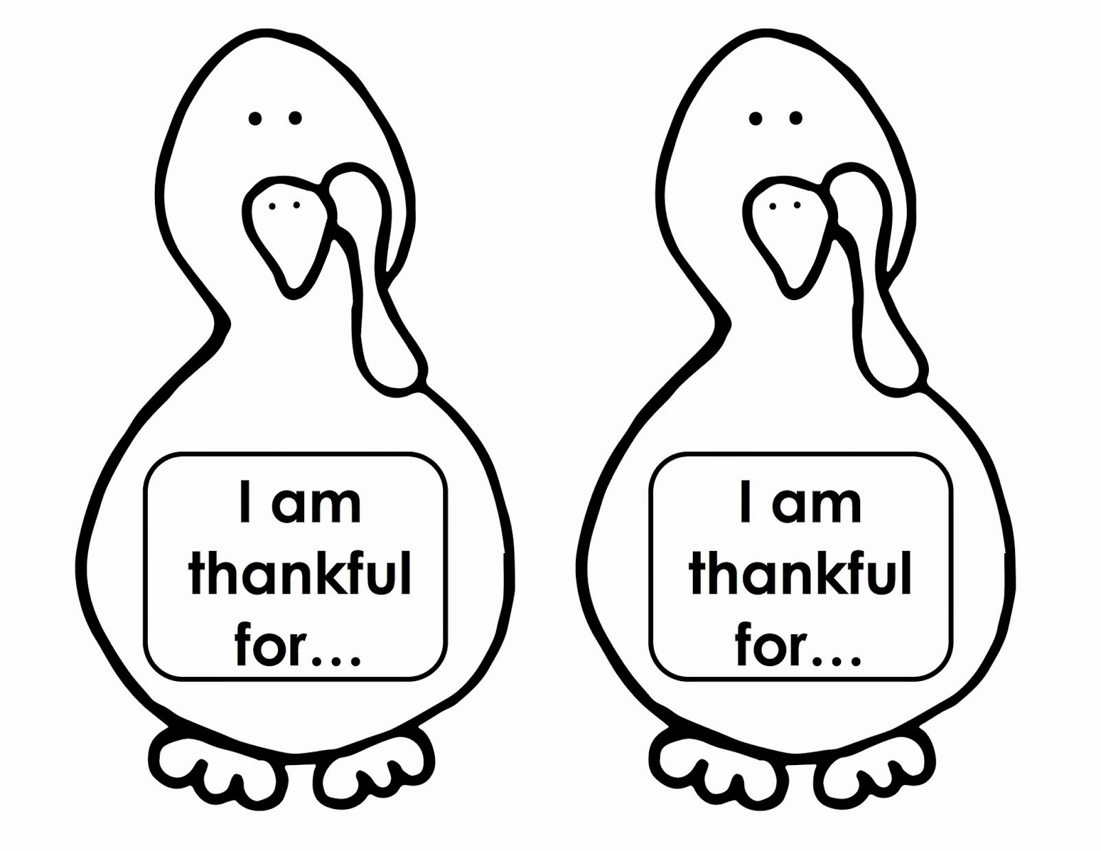 I Am Thankful for Worksheet Luxury You Turkey Thanksgiving Craft