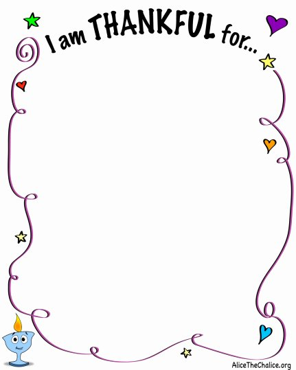 "I Am Thankful for Worksheet New ""i Am Thankful for"" Activity Sheet – Alice the Chalice"