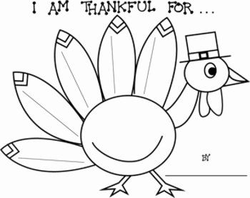 "I Am Thankful for Worksheet New Thanksgiving ""i Am Thankful for "" Turkey Printable"