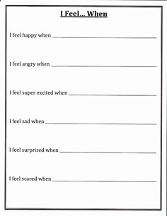 I Feel Statements Worksheet Inspirational Active Listening Google and Search On Pinterest