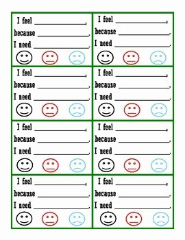 "I Feel Statements Worksheet New ""i Feel"" Statement Cards by Closet Counselor"