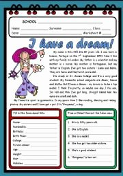I Have A Dream Worksheet Beautiful English Worksheet I Have A Dream 2 Pages