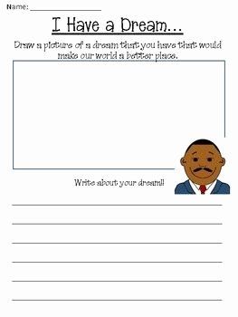 I Have A Dream Worksheet Beautiful Free Martin Luther King Jr Day Worksheet Packet