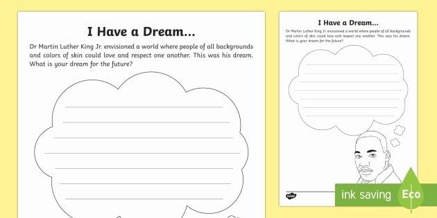 I Have A Dream Worksheet Elegant I Have A Dream Worksheet Activity Sheet Mlk Black