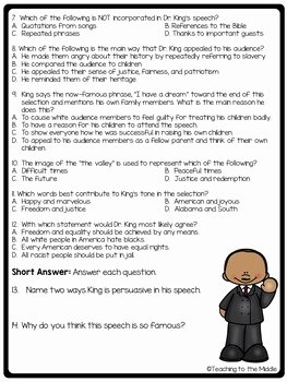 "I Have A Dream Worksheet Elegant ""i Have A Dream"" Speech Analysis Worksheet Martin Luther"