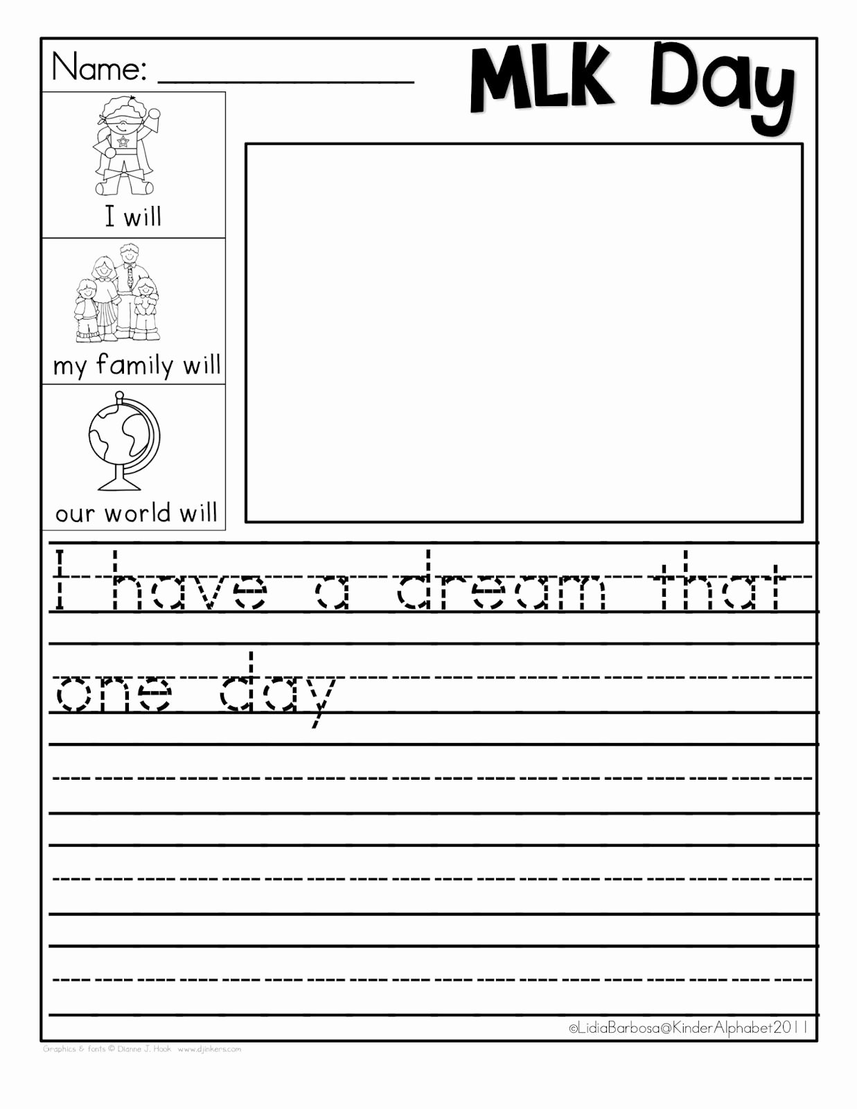 I Have A Dream Worksheet Fresh Martin Luther King Jr Freebie I Have A Dream
