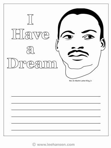 I Have A Dream Worksheet Inspirational Mlk Coloring Page Worksheet I Have A Dream