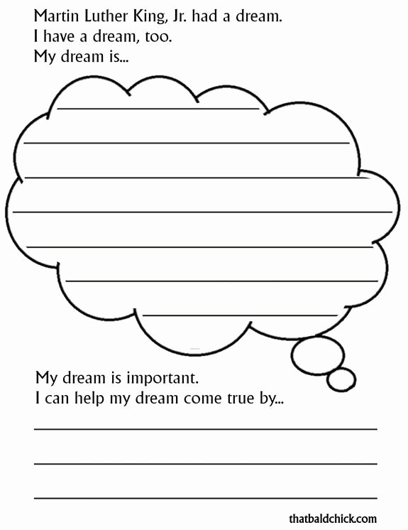 "I Have A Dream Worksheet Unique Free Printable ""i Have A Dream"" Journal Page to Celebrate"