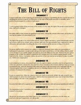 I Have Rights Worksheet Answers Elegant Bill Of Rights Scenarios Analysis Worksheet