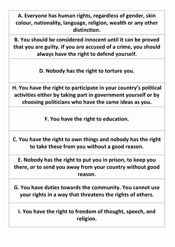 I Have Rights Worksheet Lovely Human Rights Worksheets and Guides by Lucycollingwood