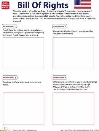 I Have Rights Worksheet New Illustrate the Bill Of Rights social Stu S