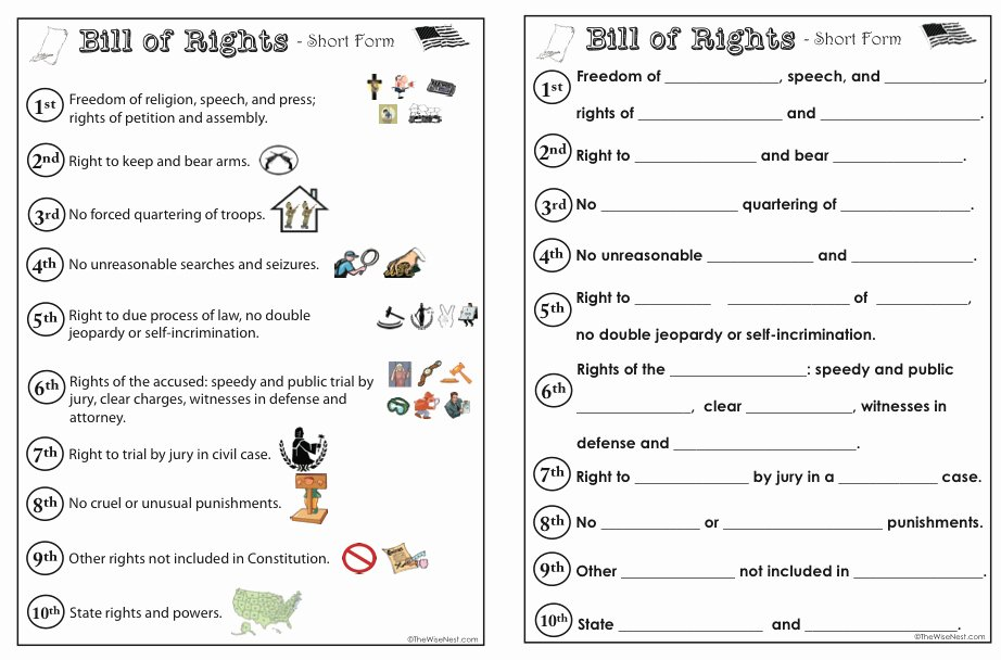 I Have Rights Worksheet New Printables Bill Rights Worksheets Messygracebook