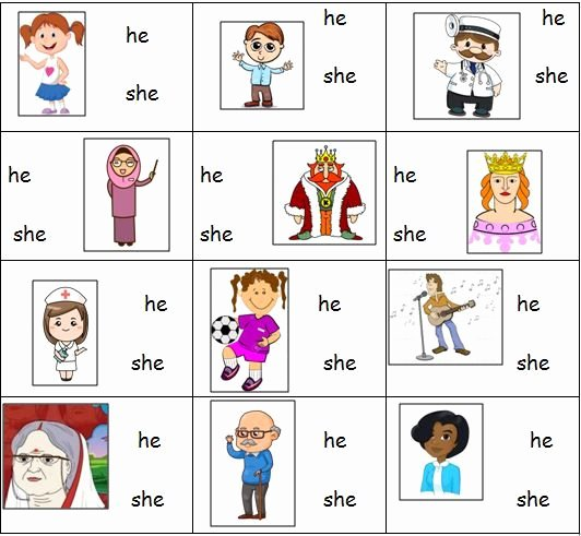 I Vs Me Worksheet Lovely Personal Pronouns Worksheet for He and She