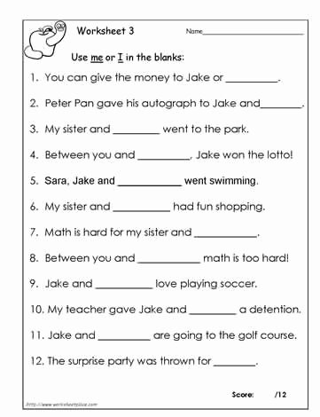 I Vs Me Worksheet Lovely Worksheets and Chang E 3 On Pinterest