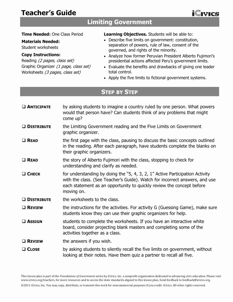 Icivics the Constitution Worksheet Answers Beautiful Limiting Government Homework
