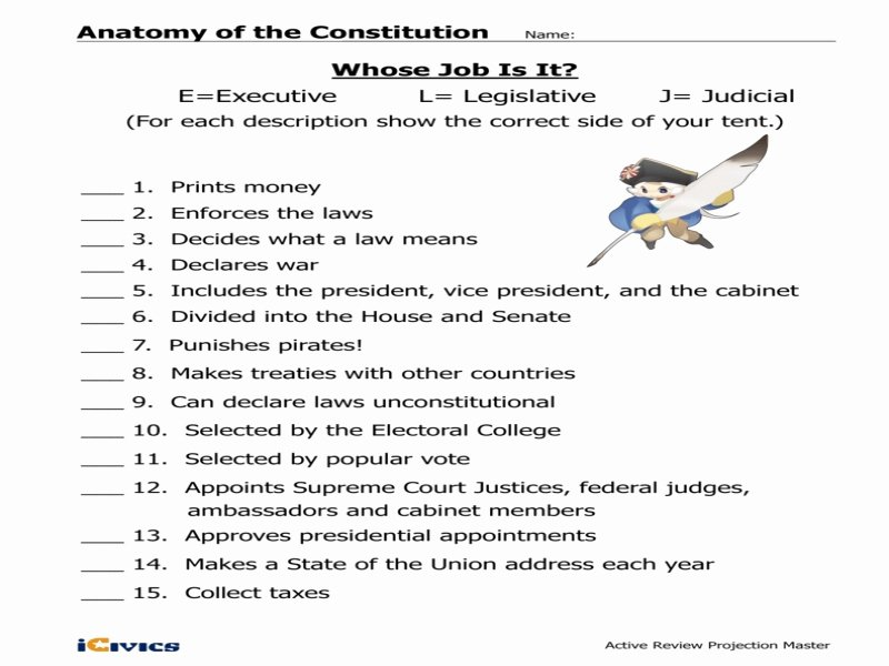 Icivics the Constitution Worksheet Answers Elegant Anatomy the Constitution Teacher Key Free Printable
