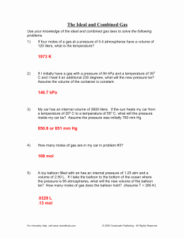 Ideal Gas Law Worksheet Awesome Molarity Practice Worksheet