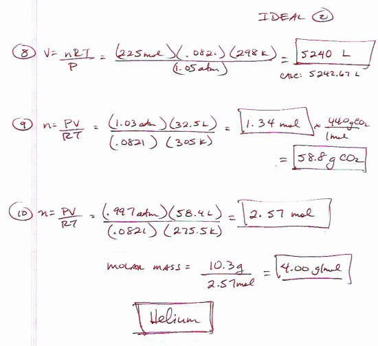 Ideal Gas Law Worksheet Luxury Ideal Gas Law Worksheet
