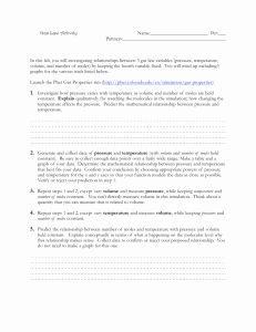 Ideal Gas Law Worksheet New Ideal Gas Law Practice Worksheet