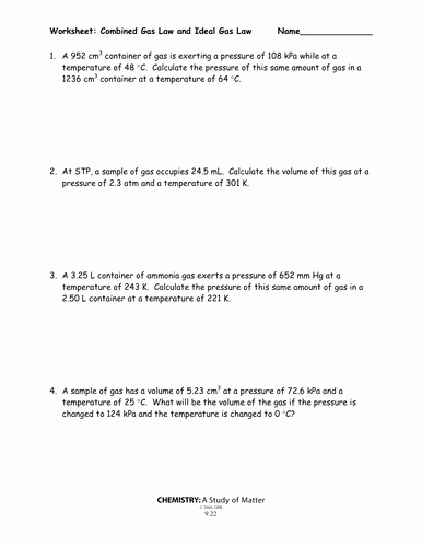 Ideal Gas Law Worksheet Unique C1 2 4 Chemical formulae by Kitipher Uk Teaching