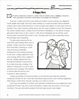 Identifying Character Traits Worksheet Lovely A Happy Hero Reading and Identifying Character Traits