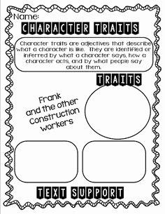 Identifying Character Traits Worksheet New Print Worksheets On Pinterest