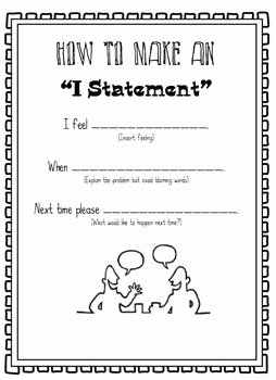 Identifying thesis Statement Worksheet Beautiful Conflict Resolution Game Using I Statements