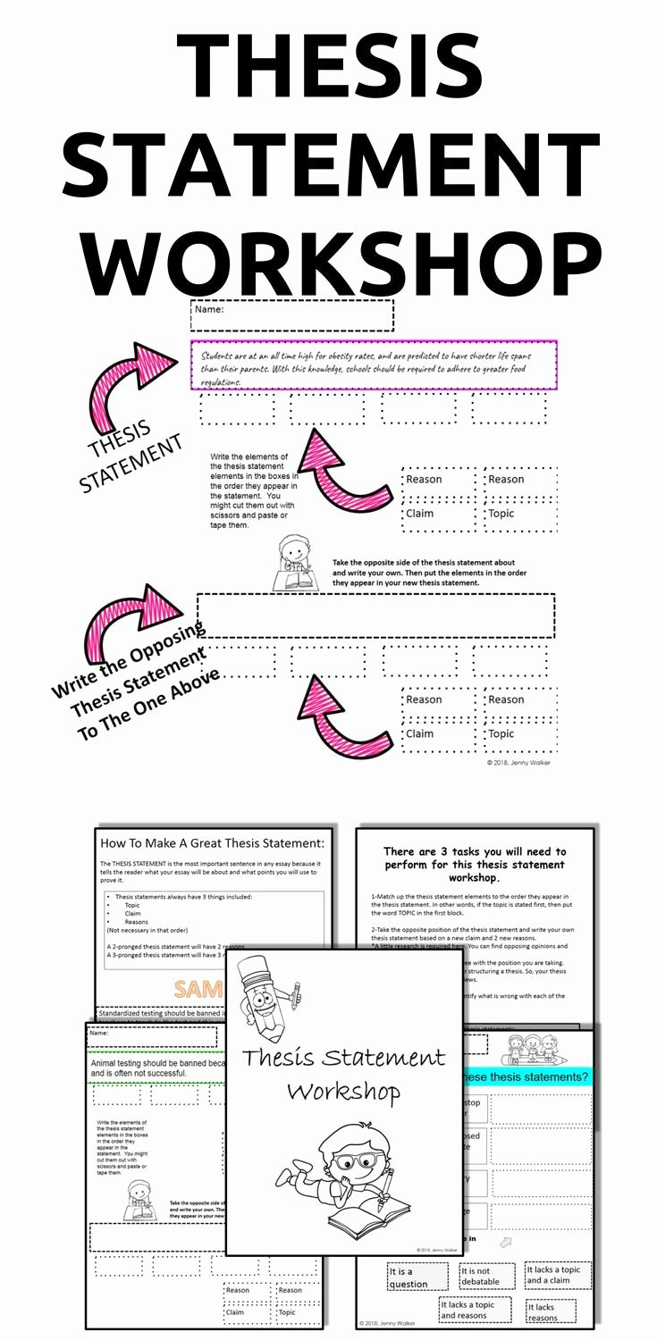 Identifying thesis Statement Worksheet Best Of thesis Statement Worksheets Printable Workshop