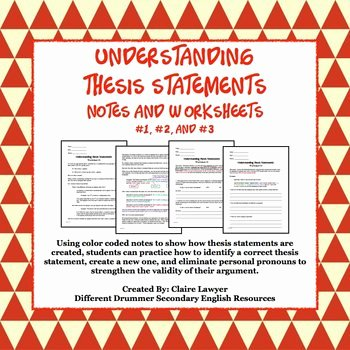 Identifying thesis Statement Worksheet Best Of Understanding thesis Statement Worksheets 1 2 3