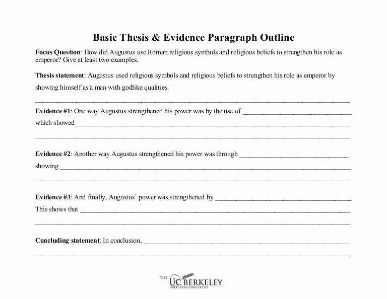 Identifying thesis Statement Worksheet Fresh thesis Statement Worksheet