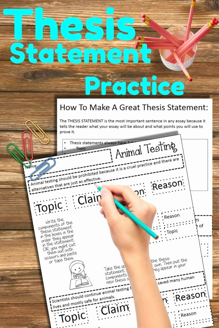 Identifying thesis Statement Worksheet Luxury thesis Statement Workshop Printable thesis Statement