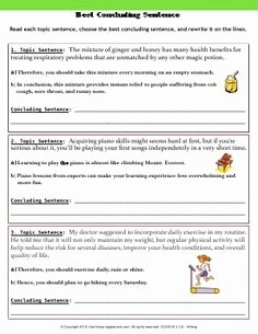 Identifying thesis Statement Worksheet Unique Worksheet Concluding Sentences