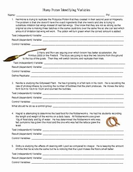 Identifying Variables Worksheet Answers New Variables Worksheet Answer Key Geo Kids Activities