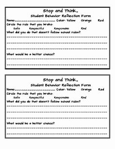 In School Suspension Worksheet Inspirational In School Suspension Student Restorative Reflection