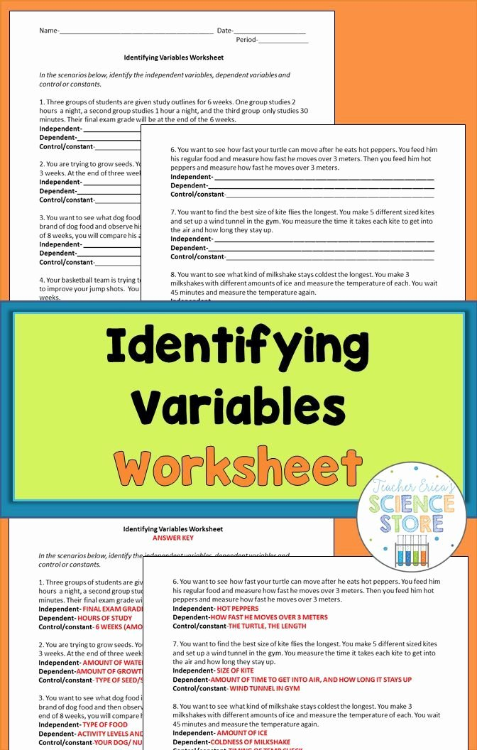 Independent and Dependent Variables Worksheet Beautiful the 25 Best Ideas About Dependent and Independent