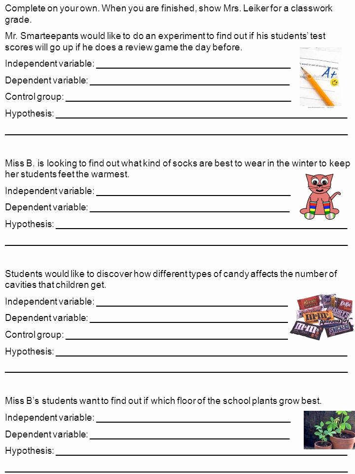 Independent and Dependent Variables Worksheet Fresh Independent and Dependent Variables Worksheet