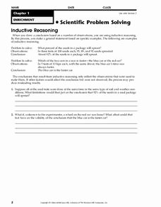Inductive and Deductive Reasoning Worksheet Awesome Inductive Reasoning Worksheet for 6th 7th Grade