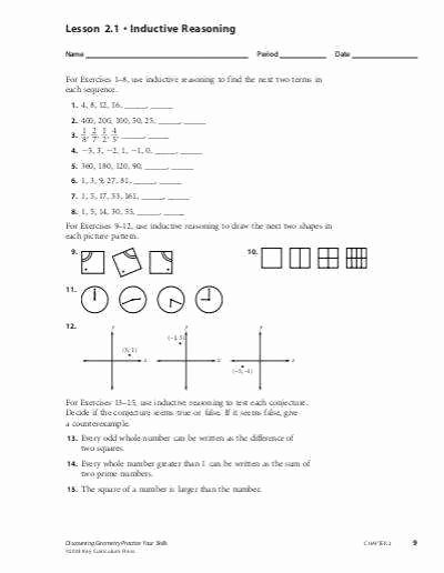 Inductive and Deductive Reasoning Worksheet Best Of Deductive Reasoning Worksheets
