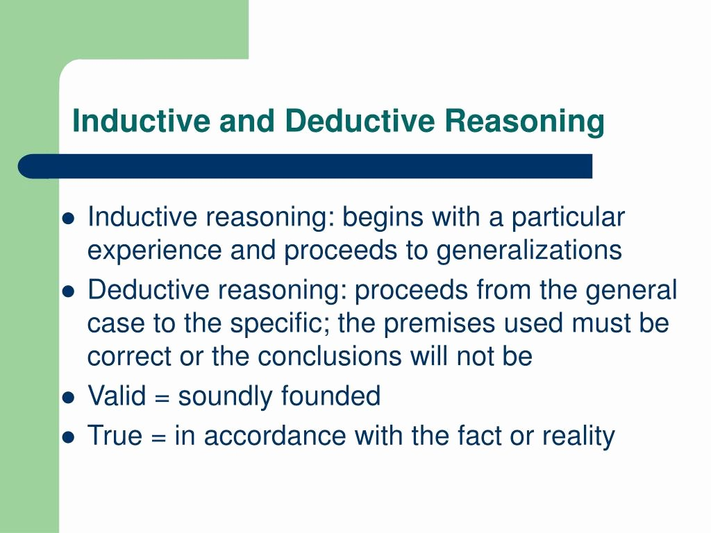 Inductive and Deductive Reasoning Worksheet Best Of Inductive and Deductive Reasoning Worksheet