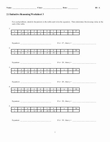 Inductive and Deductive Reasoning Worksheet Best Of Inductive and Deductive Reasoning Worksheet Siteraven