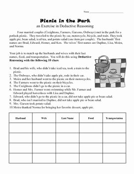 Inductive and Deductive Reasoning Worksheet Elegant Deductive Reasoning Activity Worksheet