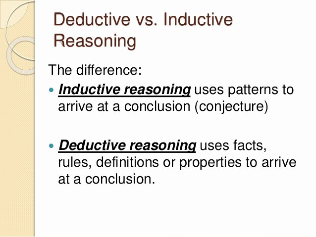 Inductive and Deductive Reasoning Worksheet Luxury Inductive Deductive and Fallacies