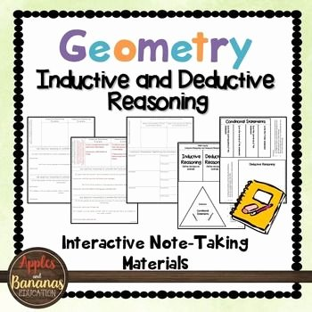 Inductive and Deductive Reasoning Worksheet Unique 16 Best Images About Geometry Logic Intro On Pinterest