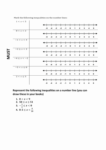 Inequalities Worksheet with Answers Awesome Differentiated Worksheet On Inequality with Answer by