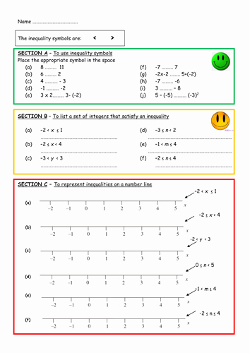 Inequalities Worksheet with Answers Best Of Inequalities by Aingarth