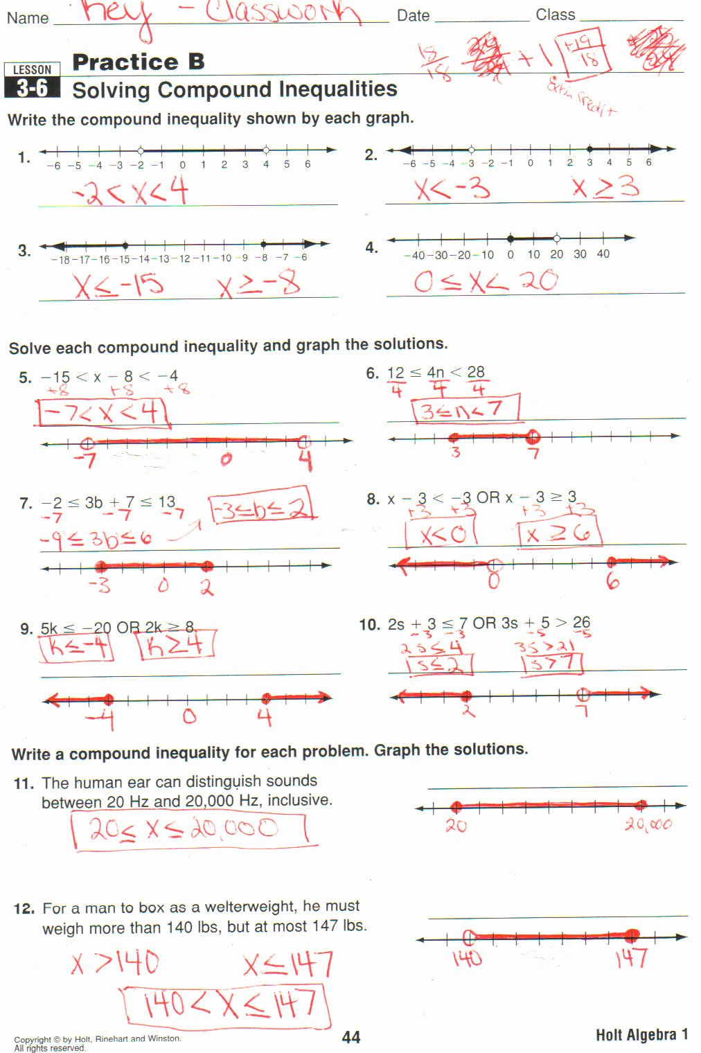 Inequalities Worksheet with Answers Lovely Worksheet Pound Inequalities Worksheet with Answers